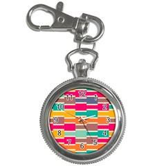 Connected Colorful Rectangleskey Chain Watch by LalyLauraFLM