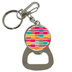 Connected Colorful Rectangles			bottle Opener Key Chain by LalyLauraFLM
