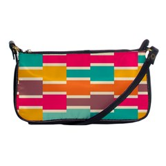 Connected Colorful Rectangles			shoulder Clutch Bag by LalyLauraFLM