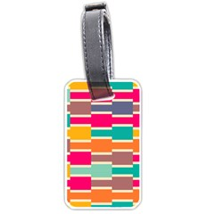 Connected Colorful Rectanglesluggage Tag (one Side) by LalyLauraFLM