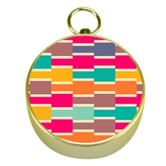 Connected Colorful Rectangles			gold Compass by LalyLauraFLM