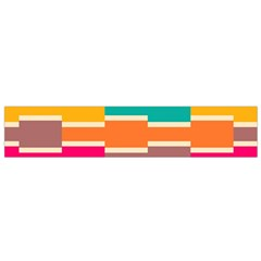 Connected Colorful Rectangles Flano Scarf by LalyLauraFLM