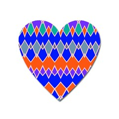 Rhombus Chains			magnet (heart) by LalyLauraFLM