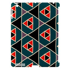 Triangles in retro colors pattern			Apple iPad 3/4 Hardshell Case (Compatible with Smart Cover) by LalyLauraFLM