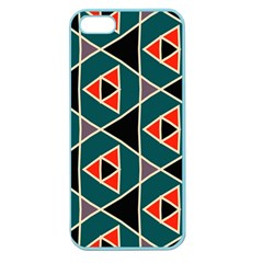 Triangles In Retro Colors Pattern			apple Seamless Iphone 5 Case (color) by LalyLauraFLM
