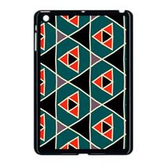 Triangles In Retro Colors Patternapple Ipad Mini Case (black) by LalyLauraFLM