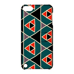 Triangles In Retro Colors Pattern			apple Ipod Touch 5 Hardshell Case With Stand by LalyLauraFLM