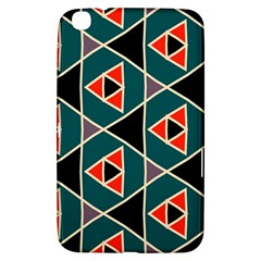 Triangles In Retro Colors Pattern			samsung Galaxy Tab 3 (8 ) T3100 Hardshell Case by LalyLauraFLM