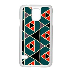 Triangles In Retro Colors Pattern			samsung Galaxy S5 Case (white) by LalyLauraFLM
