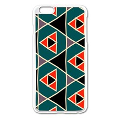 Triangles In Retro Colors Pattern			apple Iphone 6 Plus/6s Plus Enamel White Case by LalyLauraFLM
