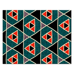 Triangles In Retro Colors Patternjigsaw Puzzle (rectangular) by LalyLauraFLM