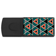 Triangles In Retro Colors Patternusb Flash Drive Rectangular (4 Gb) by LalyLauraFLM