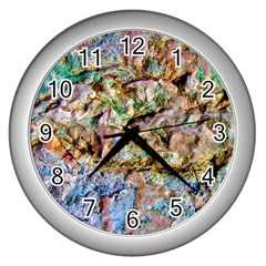 Abstract Background Wall 1 Wall Clocks (silver)