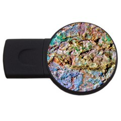 Abstract Background Wall 1 Usb Flash Drive Round (2 Gb)  by Costasonlineshop