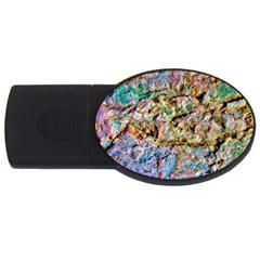 Abstract Background Wall 1 Usb Flash Drive Oval (4 Gb)  by Costasonlineshop