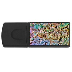 Abstract Background Wall 1 Usb Flash Drive Rectangular (4 Gb)  by Costasonlineshop