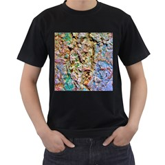 Abstract Background Wallpaper 1 Men s T Shirt (black) (two Sided)