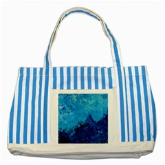 Waves Striped Blue Tote Bag  by timelessartoncanvas