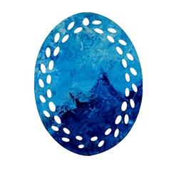 Waves Oval Filigree Ornament (2 Side)  by timelessartoncanvas