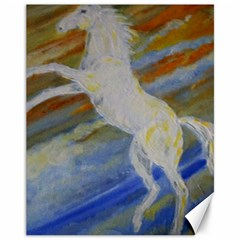 Unicorn In The Sky  Canvas 11  x 14   by JDDesigns