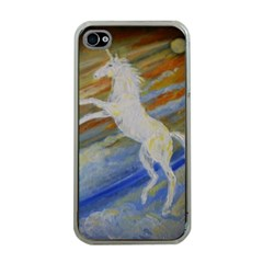 Unicorn In The Sky  Apple Iphone 4 Case (clear) by JDDesigns