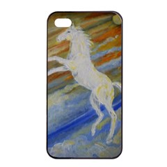 Unicorn In The Sky  Apple Iphone 4/4s Seamless Case (black) by JDDesigns