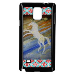 Unicorn In The Sky  Samsung Galaxy Note 4 Case (black) by JDDesigns