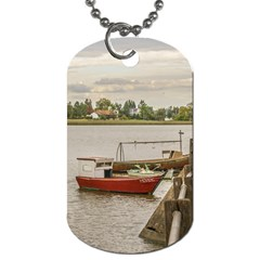 Santa Lucia River In Montevideo Uruguay Dog Tag (two Sides) by dflcprints