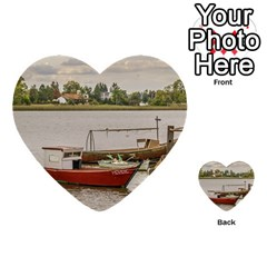 Santa Lucia River In Montevideo Uruguay Multi Purpose Cards (heart)  by dflcprints