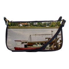 Santa Lucia River In Montevideo Uruguay Shoulder Clutch Bags by dflcprints