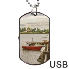 Santa Lucia River In Montevideo Uruguay Dog Tag Usb Flash (one Side) by dflcprints