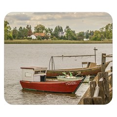 Santa Lucia River In Montevideo Uruguay Double Sided Flano Blanket (small)  by dflcprints