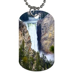 YELLOWSTONE WATERFALL Dog Tag (One Side) by trendistuff