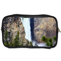 Yellowstone Waterfall Toiletries Bags 2 Side by trendistuff