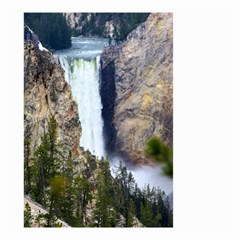 Yellowstone Waterfall Small Garden Flag (two Sides) by trendistuff