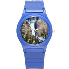 Yellowstone Waterfall Round Plastic Sport Watch (s) by trendistuff