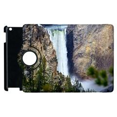 Yellowstone Waterfall Apple Ipad 3/4 Flip 360 Case by trendistuff