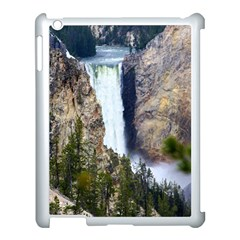 Yellowstone Waterfall Apple Ipad 3/4 Case (white) by trendistuff