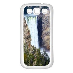 Yellowstone Waterfall Samsung Galaxy S3 Back Case (white) by trendistuff