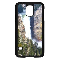 Yellowstone Waterfall Samsung Galaxy S5 Case (black) by trendistuff