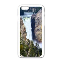 Yellowstone Waterfall Apple Iphone 6/6s White Enamel Case by trendistuff