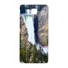 Yellowstone Waterfall Samsung Galaxy Alpha Hardshell Back Case by trendistuff