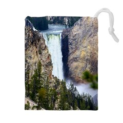 Yellowstone Waterfall Drawstring Pouches (extra Large)