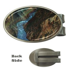 Yellowstone Lower Falls Money Clips (oval)  by trendistuff
