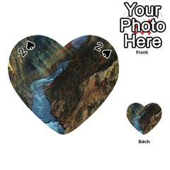 Yellowstone Lower Falls Playing Cards 54 (heart)