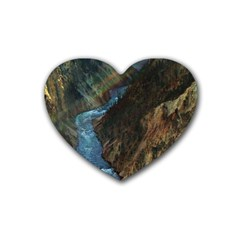 Yellowstone Lower Falls Heart Coaster (4 Pack)  by trendistuff
