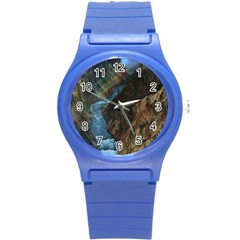 Yellowstone Lower Falls Round Plastic Sport Watch (s) by trendistuff