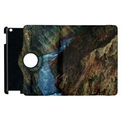 Yellowstone Lower Falls Apple Ipad 2 Flip 360 Case by trendistuff