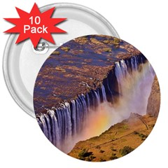 WATERFALL AFRICA ZAMBIA 3  Buttons (10 pack)  by trendistuff