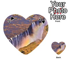 Waterfall Africa Zambia Playing Cards 54 (heart)